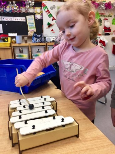 Learning to play Jingle Bells!